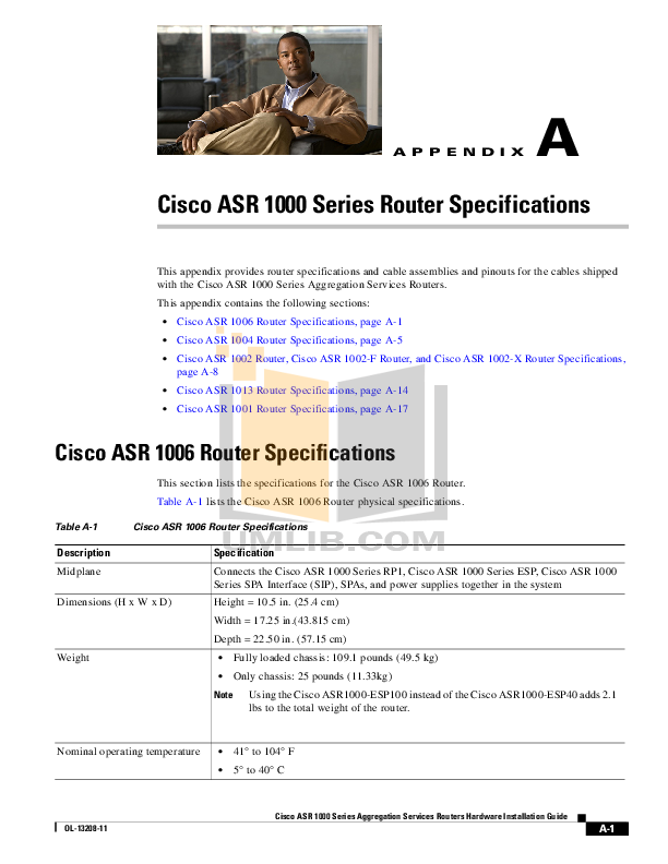 pdf for Cisco Router ASR1002 manual