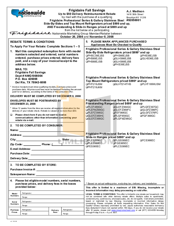 pdf for Frigidaire Range PLEFMZ99GC manual