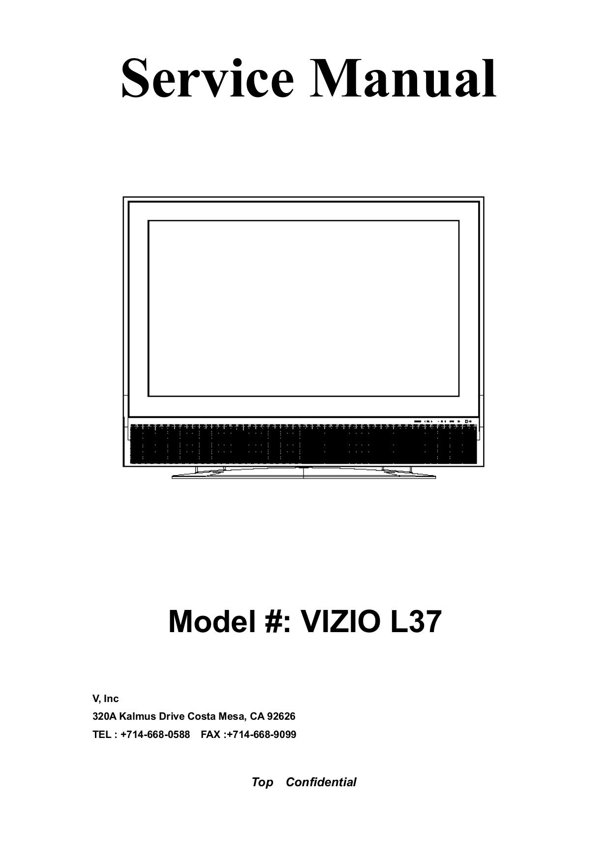 pdf for Vizio TV VP422 manual