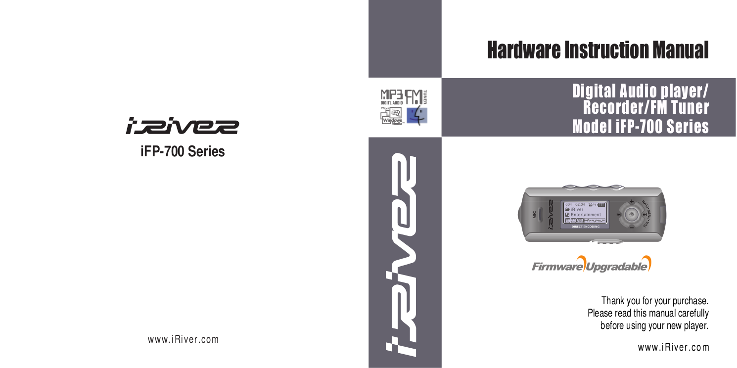 download free pdf for iriver ifp 780 mp3 player manual rh umlib com Iriver Ifp 390T Iriver Ifp 390T