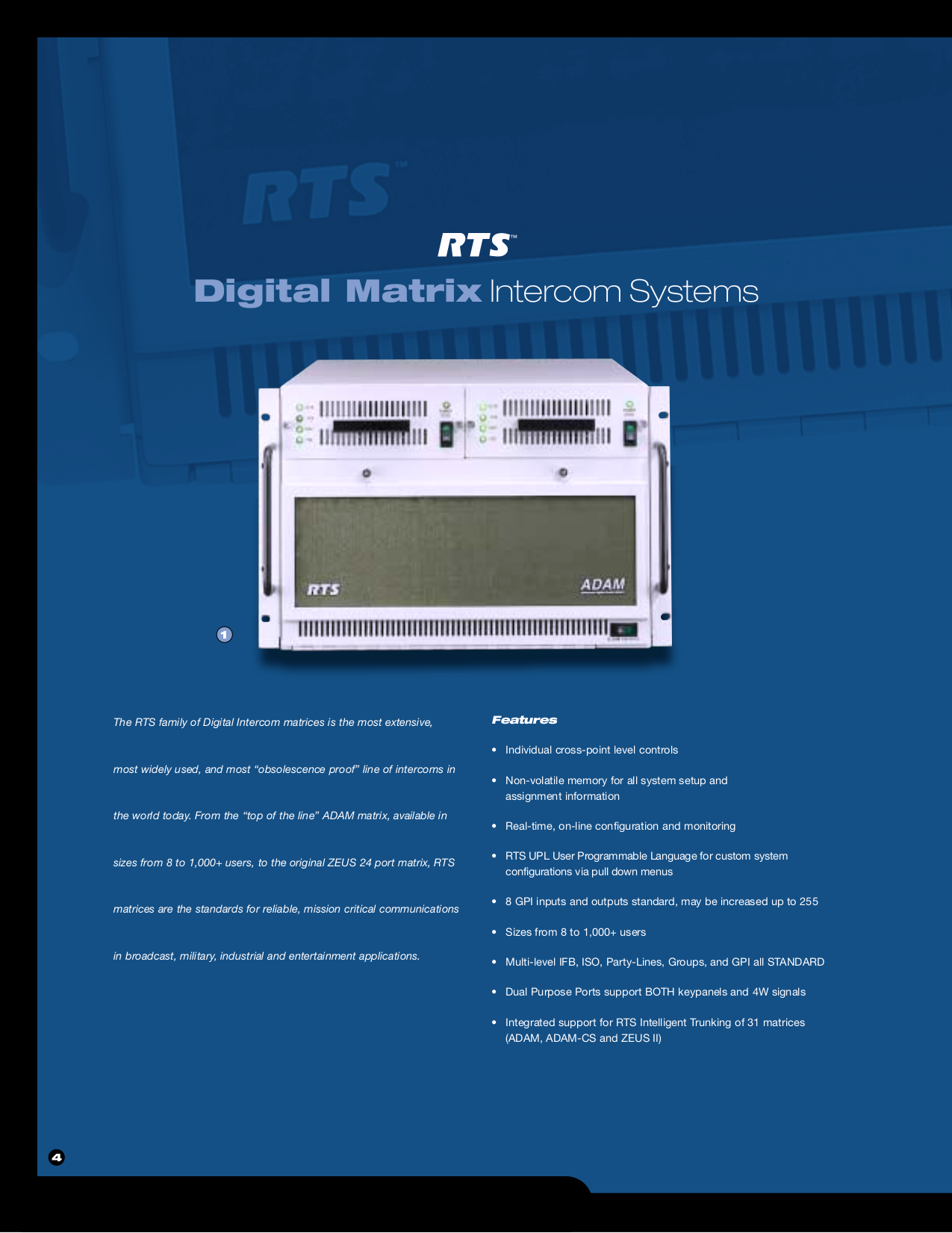 Telex Other PAP-32 Intercom System pdf page preview