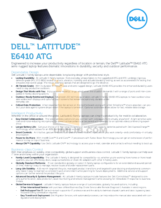 Download Free Pdf For Dell Latitude E6410 Laptop Manual