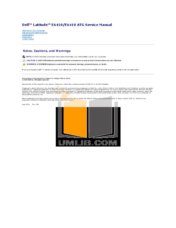 download free pdf for dell latitude e6410 laptop manual rh umlib com latitude e6400 manual latitude e6400 manual pdf