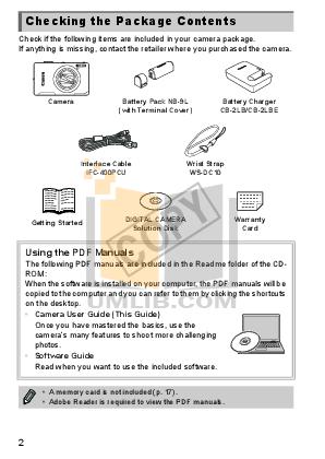 Canon Digital Camera Powershot ELPH 510 HS pdf page preview