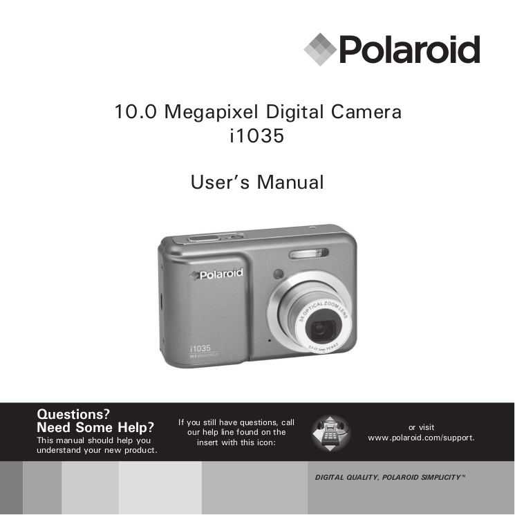 download free pdf for polaroid i1035 digital camera manual rh umlib com Instant Camera Polaroid Z2300 Instant Digital Camera