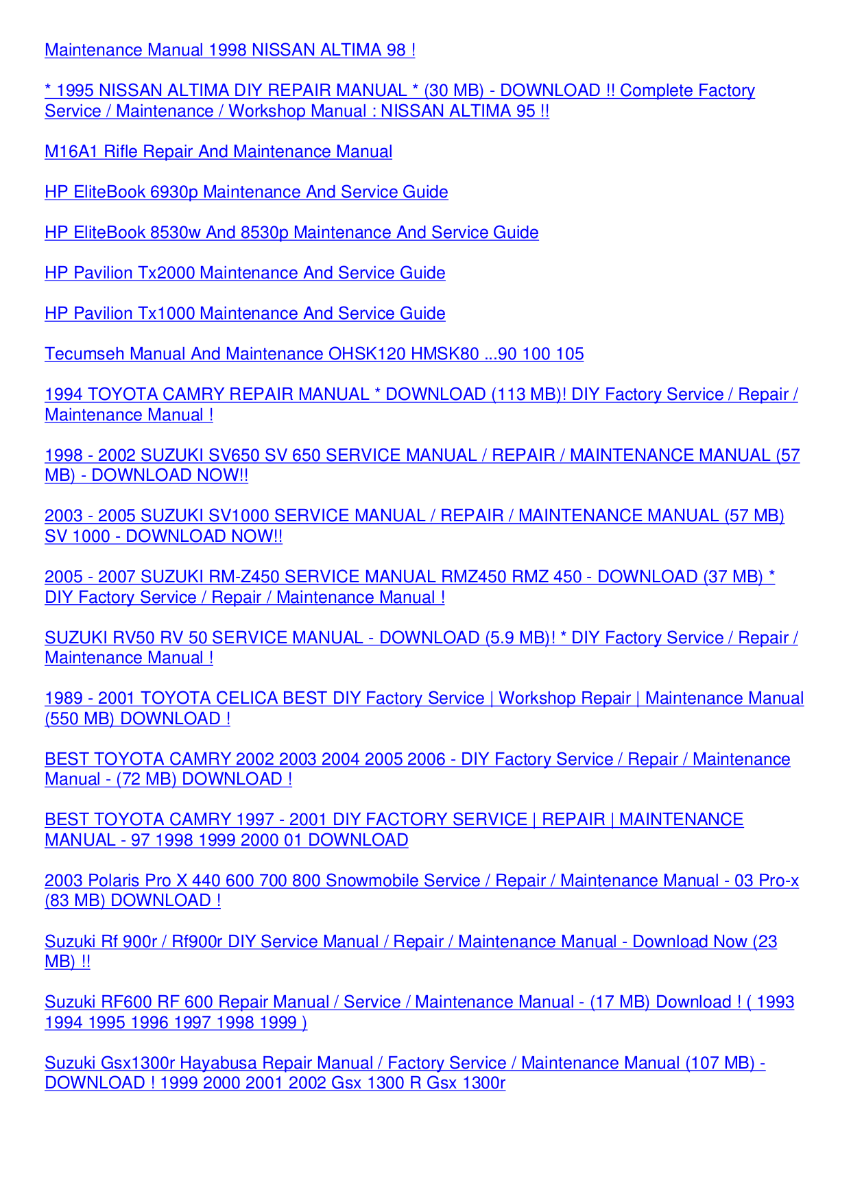 ... Panasonic Digital Camera Lumix DMC-FH24 pdf page preview ...