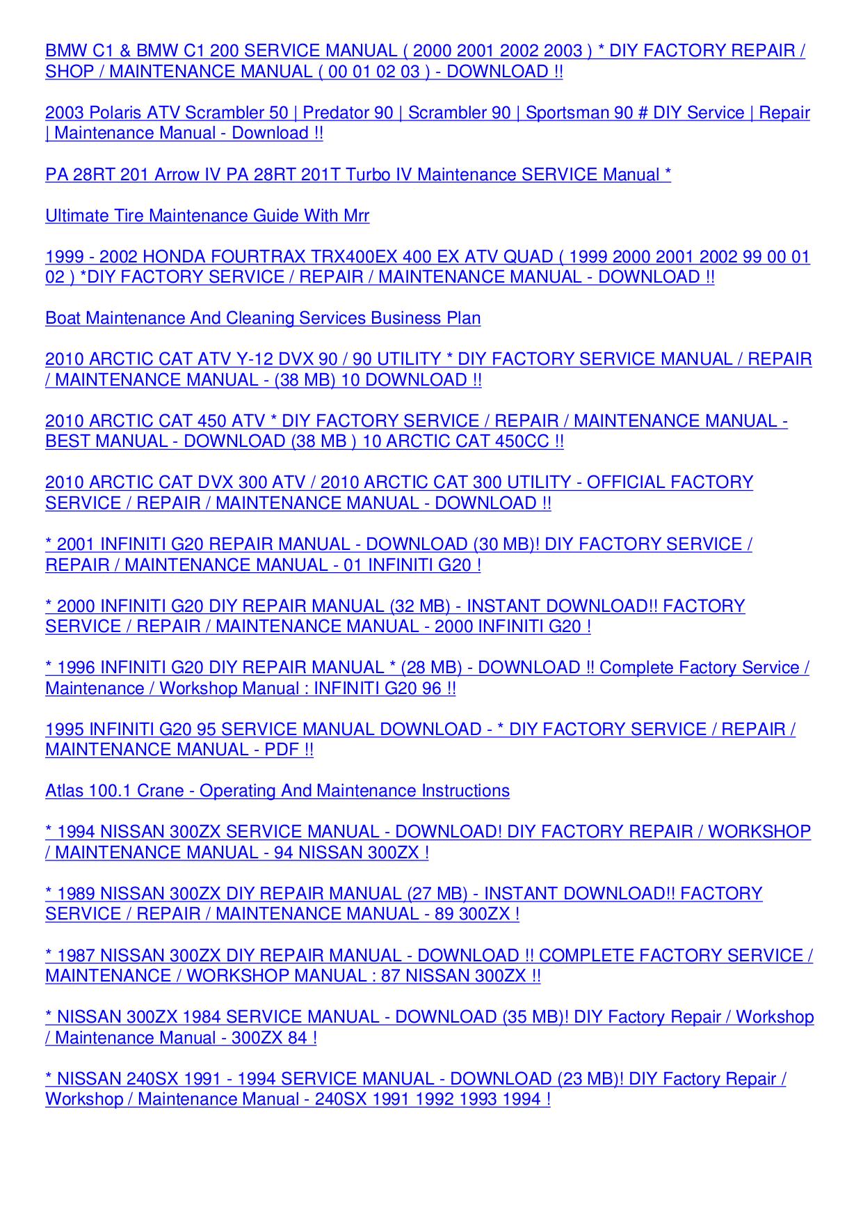 1999 Infiniti G20 Repair Manual Pdf 2001 Service Panasonic Digital Camera Lumix Dmc Fh24 Page Preview