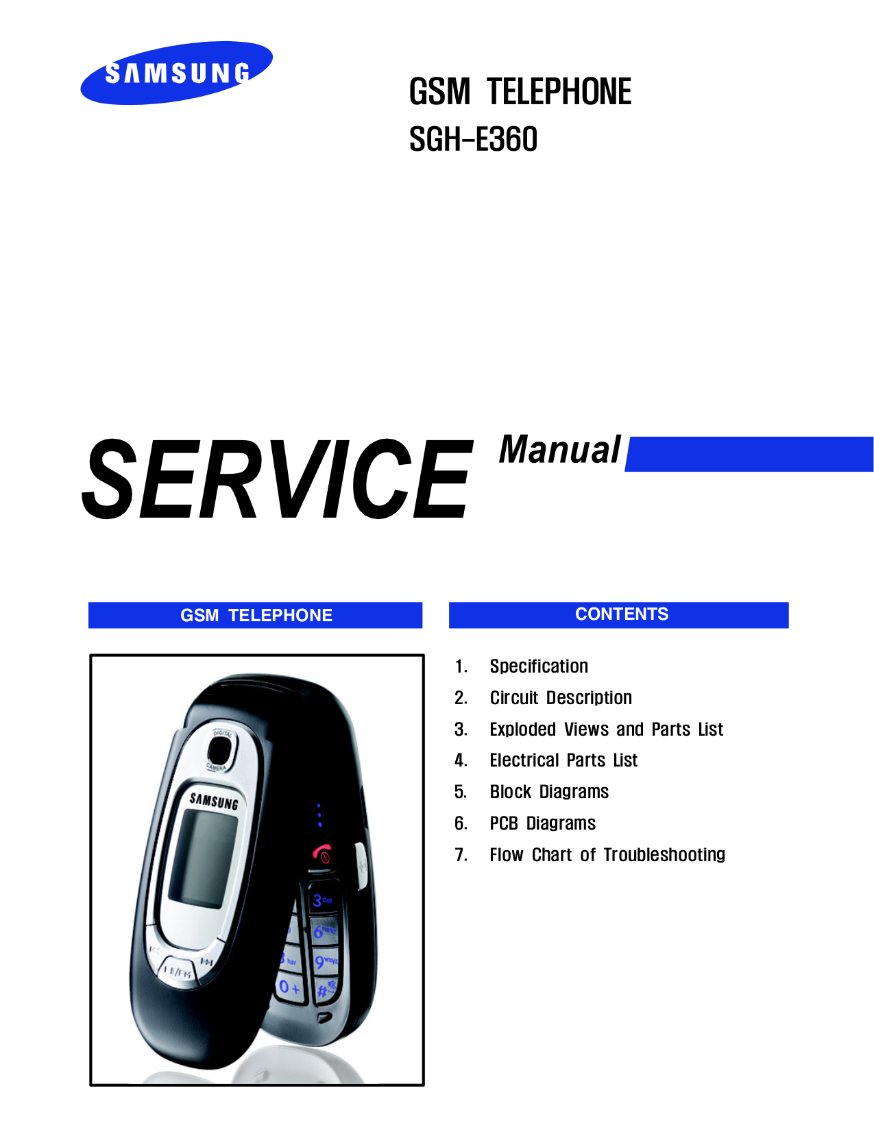 pdf for Samsung Cell Phone SGH-E360S manual