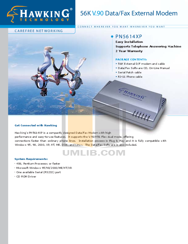 pdf for Hawking Other PN580U Modems manual