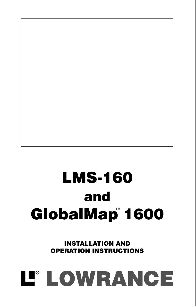 pdf for Lowrance GPS GlobalMap 1600 manual