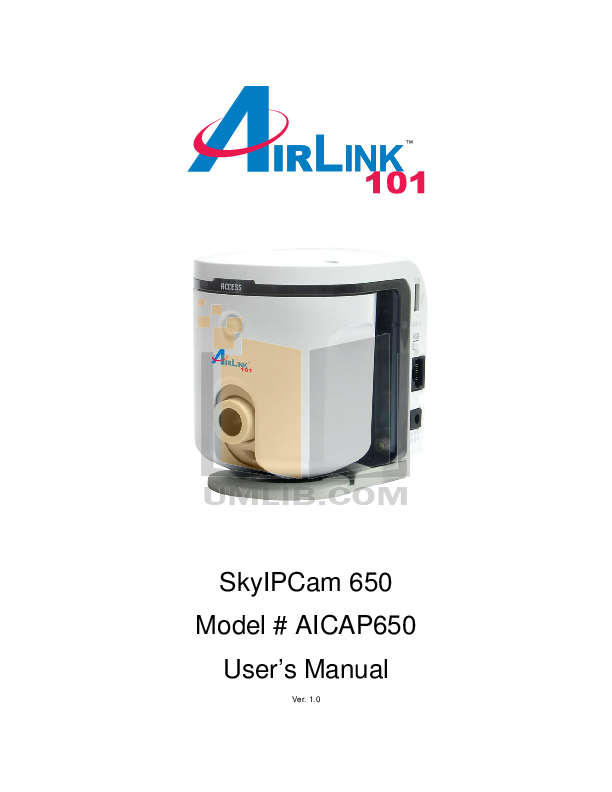 pdf for Airlink Other AICAP650 Webcams manual