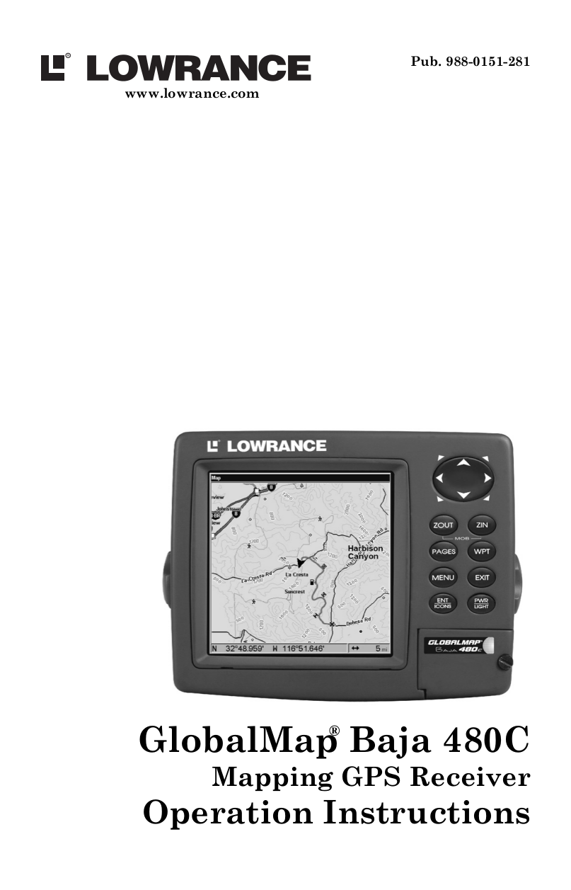 pdf for Lowrance GPS GlobalMap 540c BAJA manual