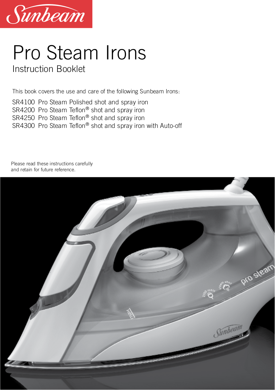 pdf for Sunbeam Other 3983 Iron manual