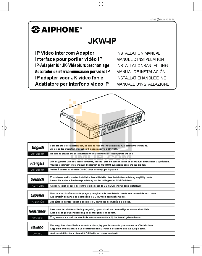 pdf for Aiphone Other AP-MS Intercoms manual