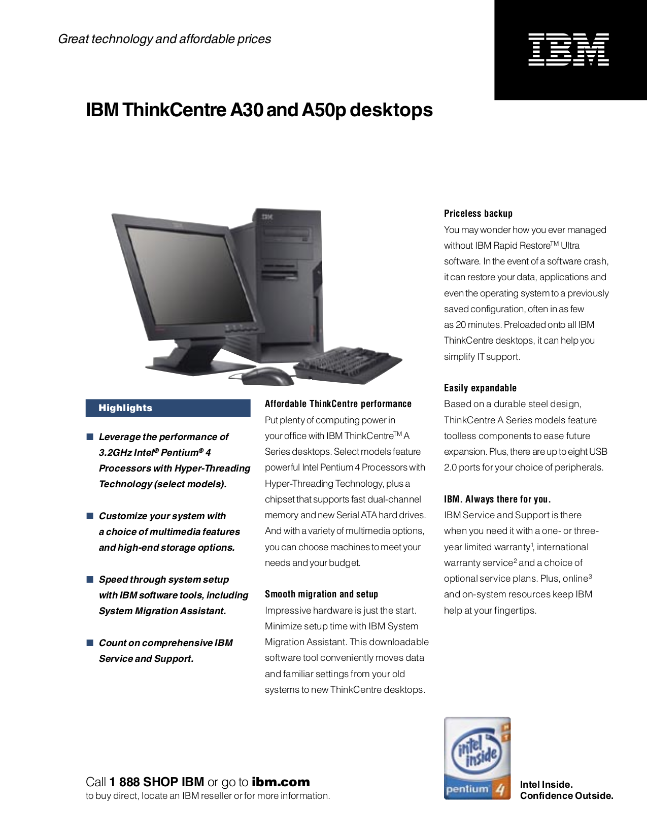 pdf for Lenovo Desktop ThinkCentre A50p 8194 manual