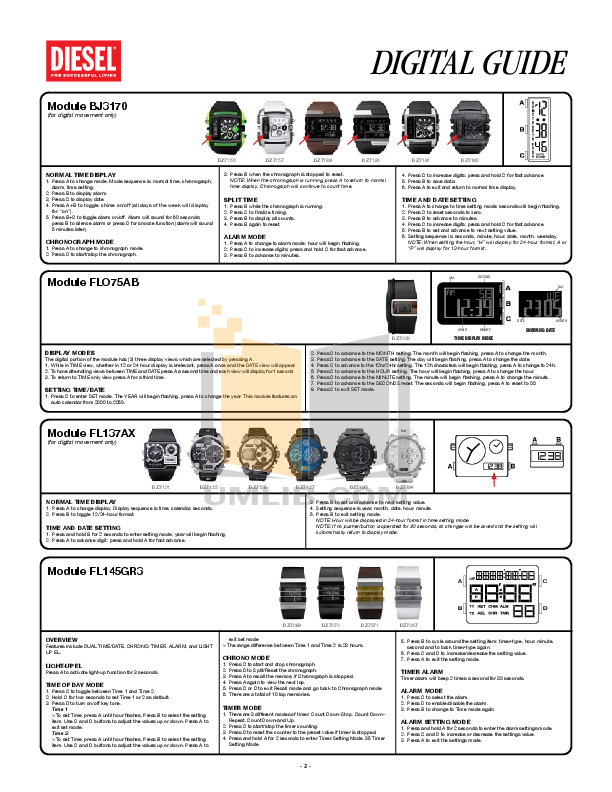 Diesel Watch DZ7213 pdf page preview