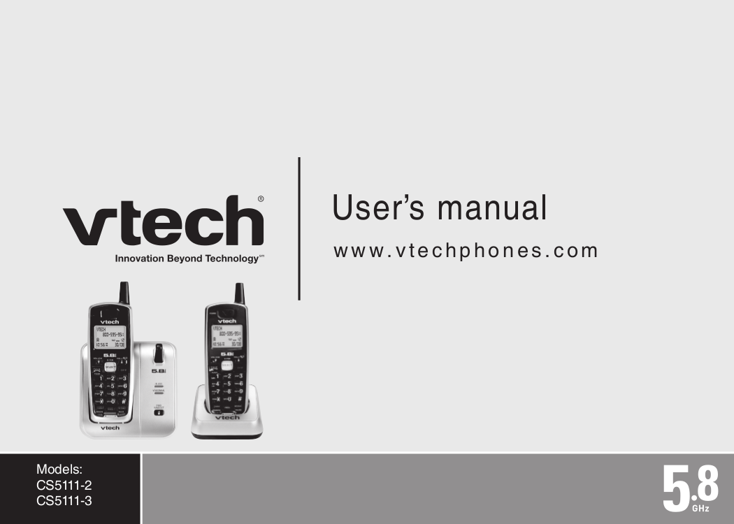 pdf for Vtech Telephone CS5111-3 manual