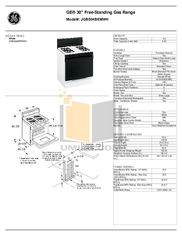 pdf manual for ge range jgbs04bem