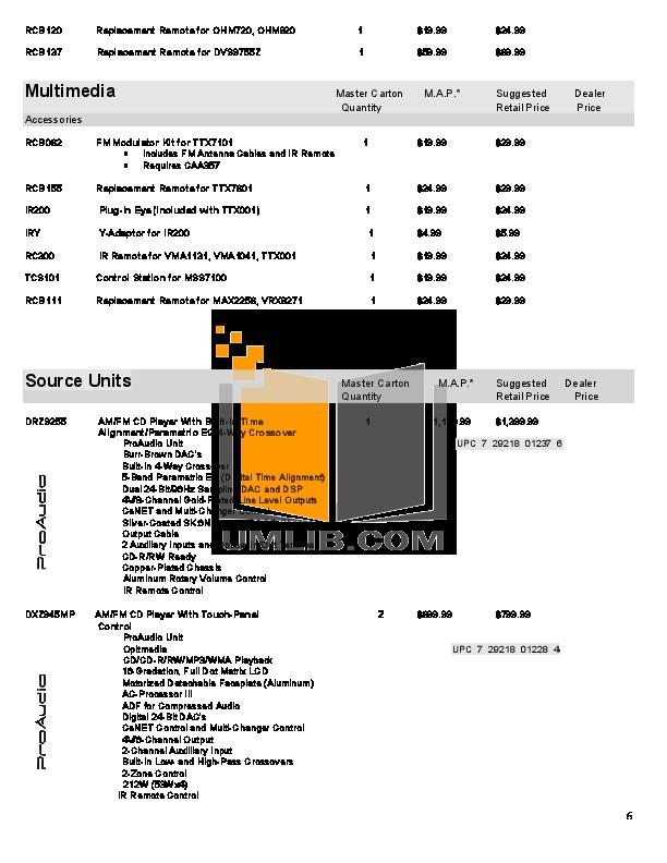 pdf manual for clarion car receiver dxz615 rh umlib com