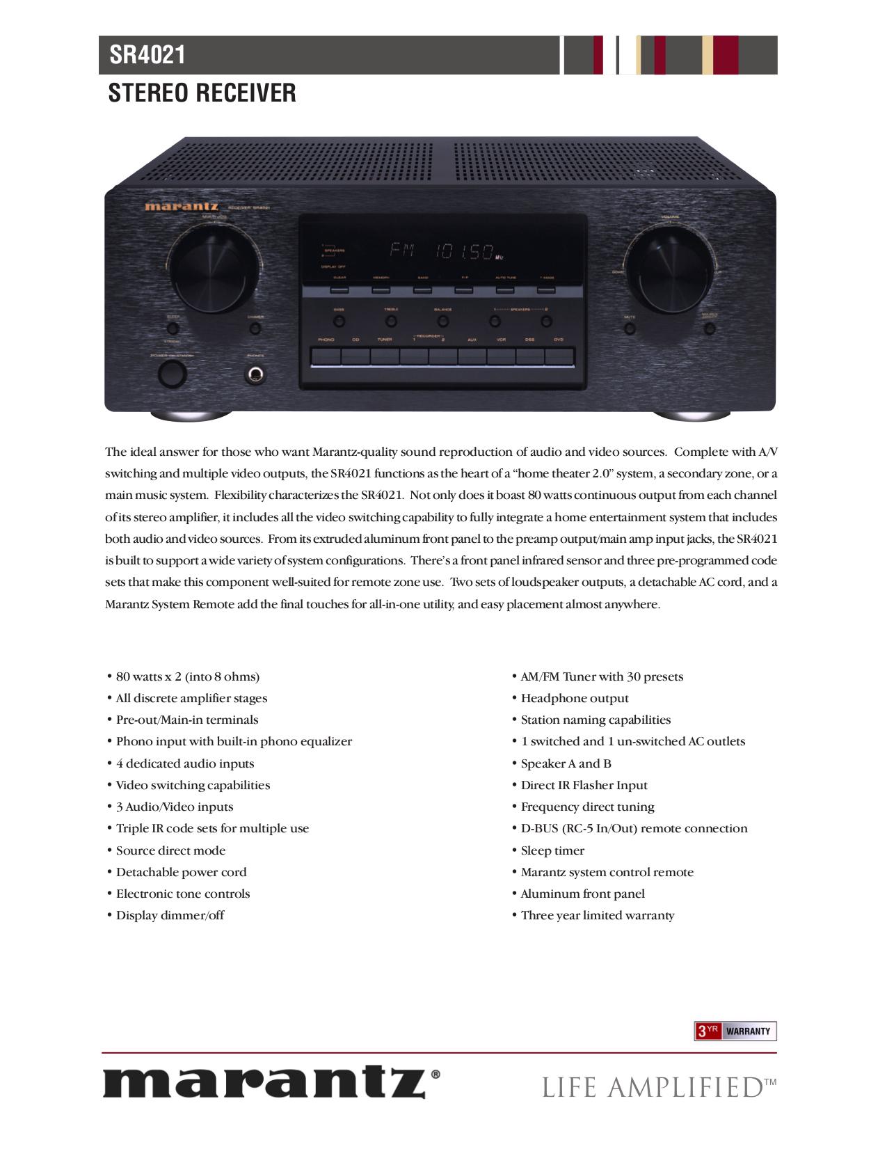 Marantz sr5001 manual ebook pdf for marantz receiver sr4021 manual fandeluxe Choice Image
