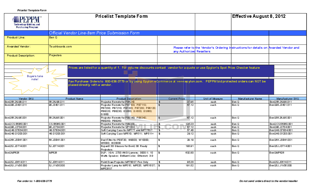 pdf for Benq Projector PB7210 manual