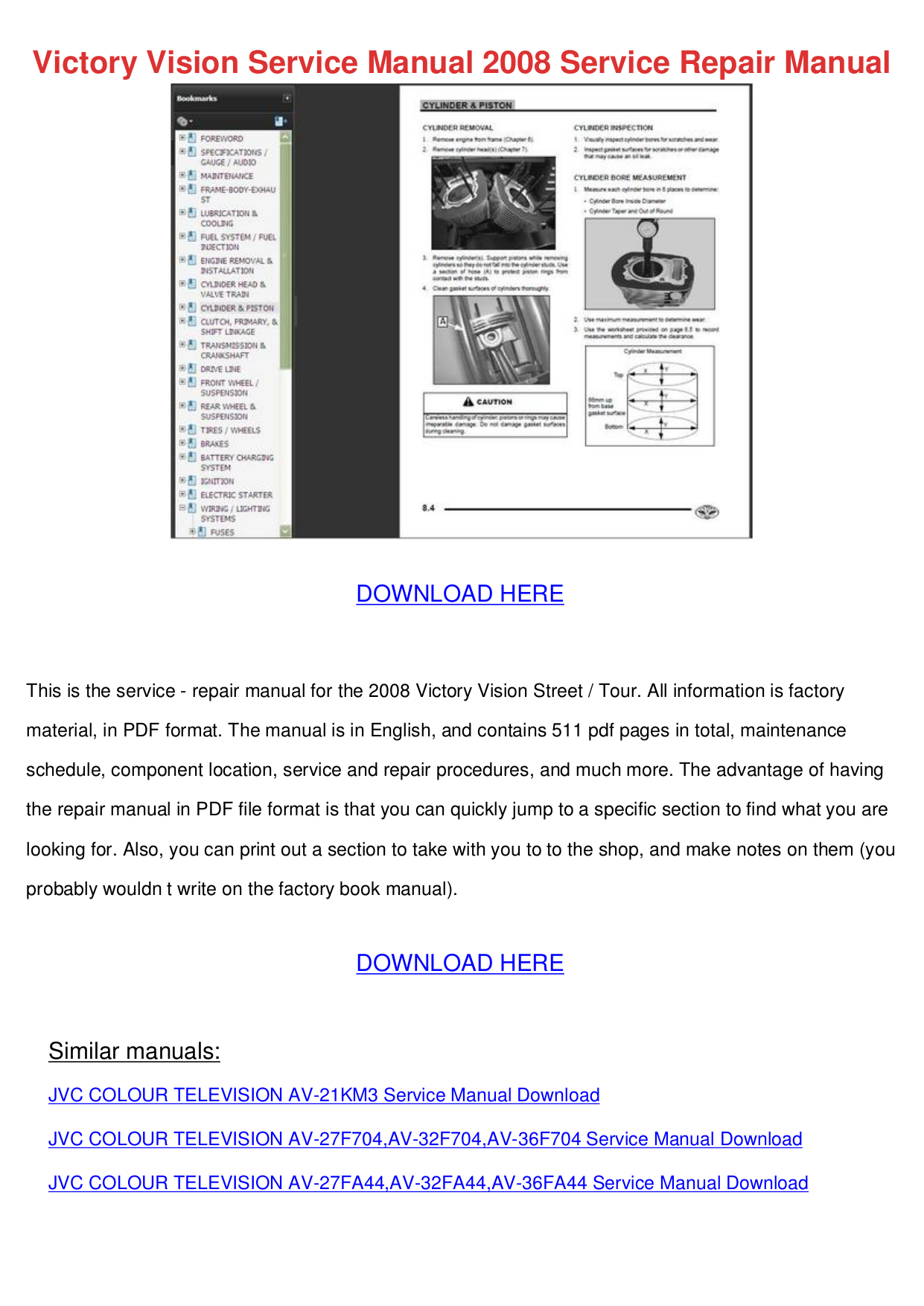 pdf for XOVision Car Video XOD1742BT manual