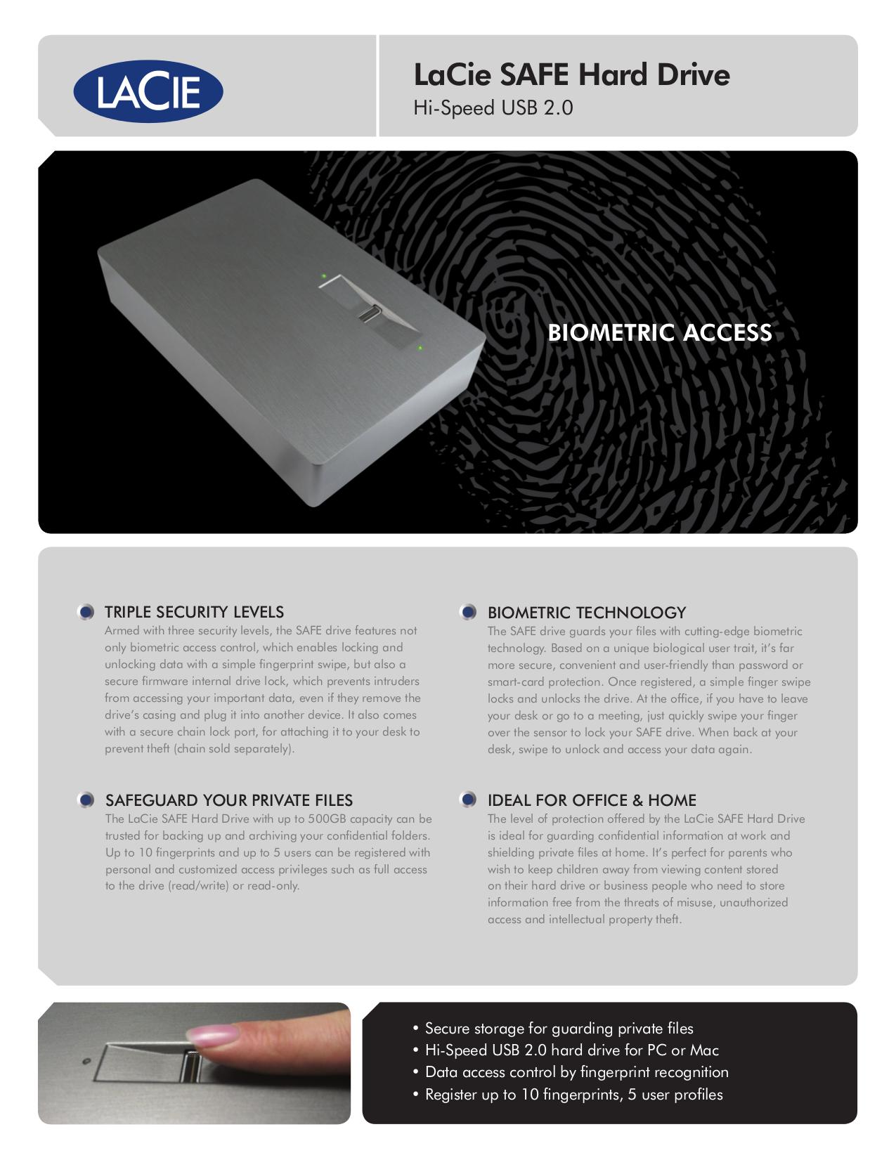 pdf for LaCie Storage 301087U manual