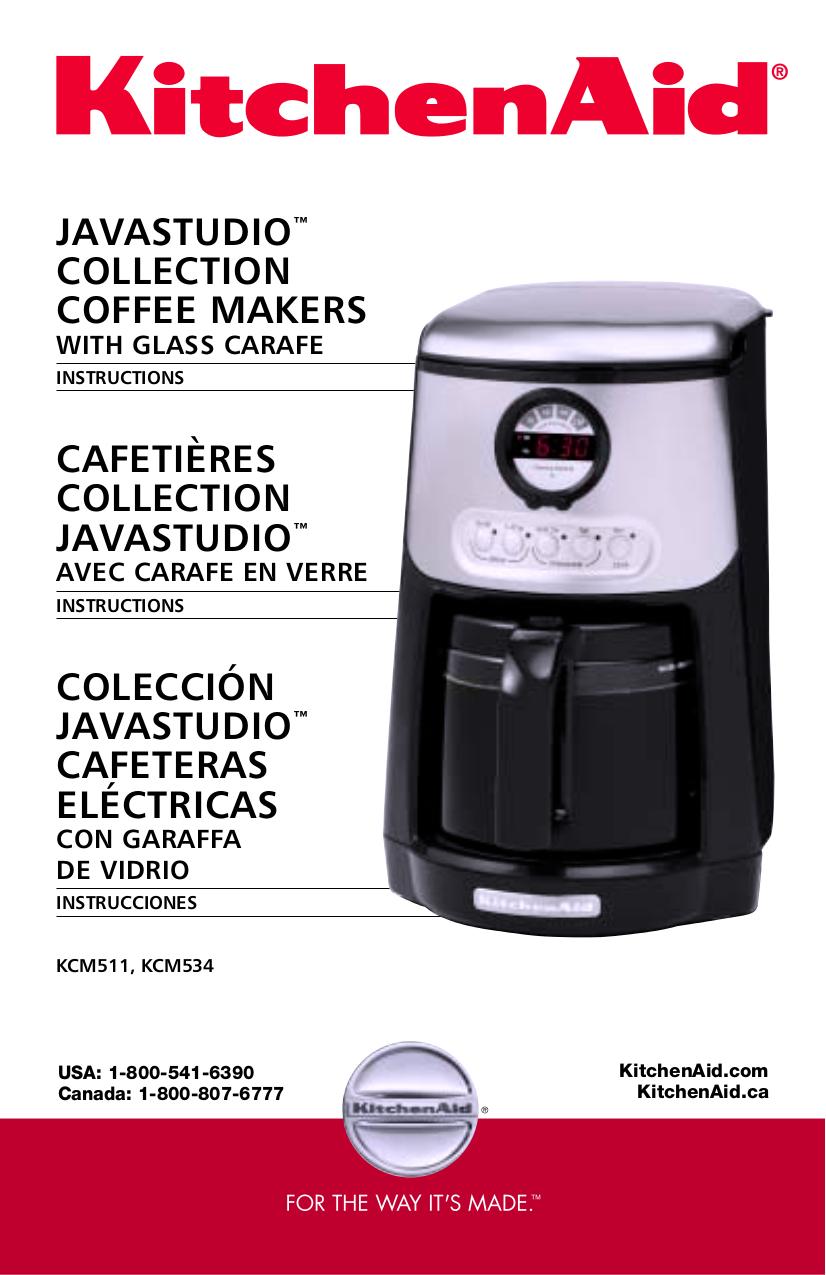 Download Free Pdf For Kitchenaid Kcm534 Coffee Maker Manual