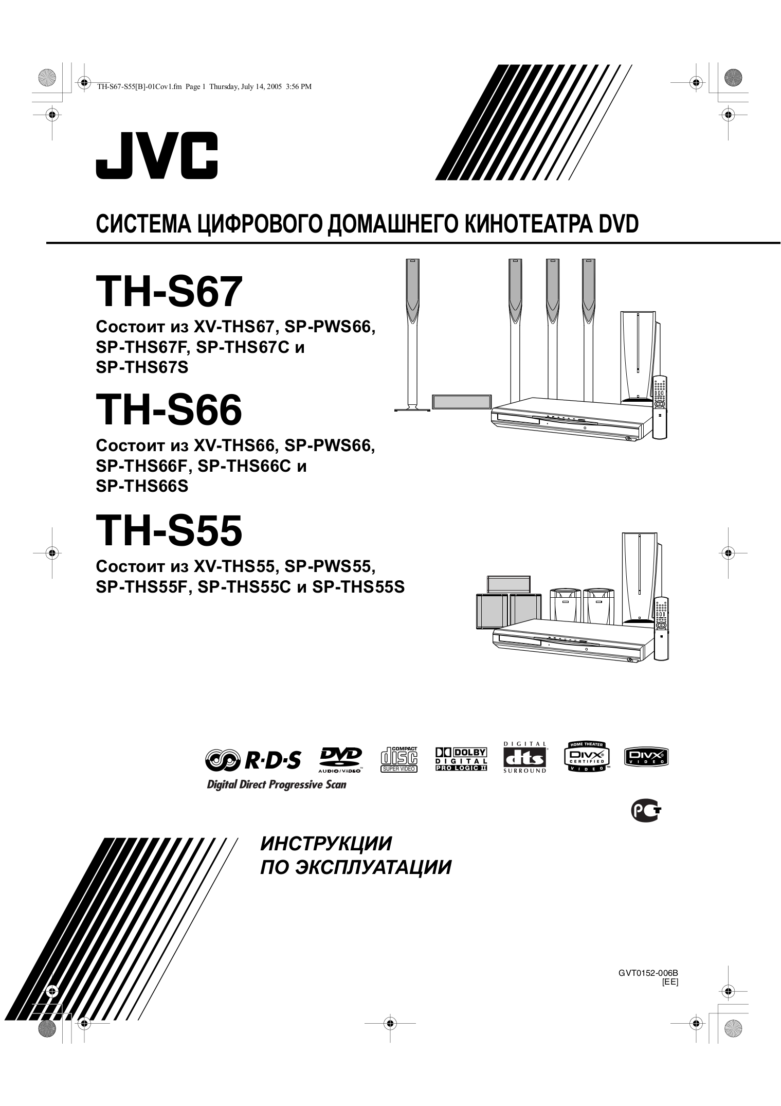 pdf for JVC Home Theater TH-C6C manual
