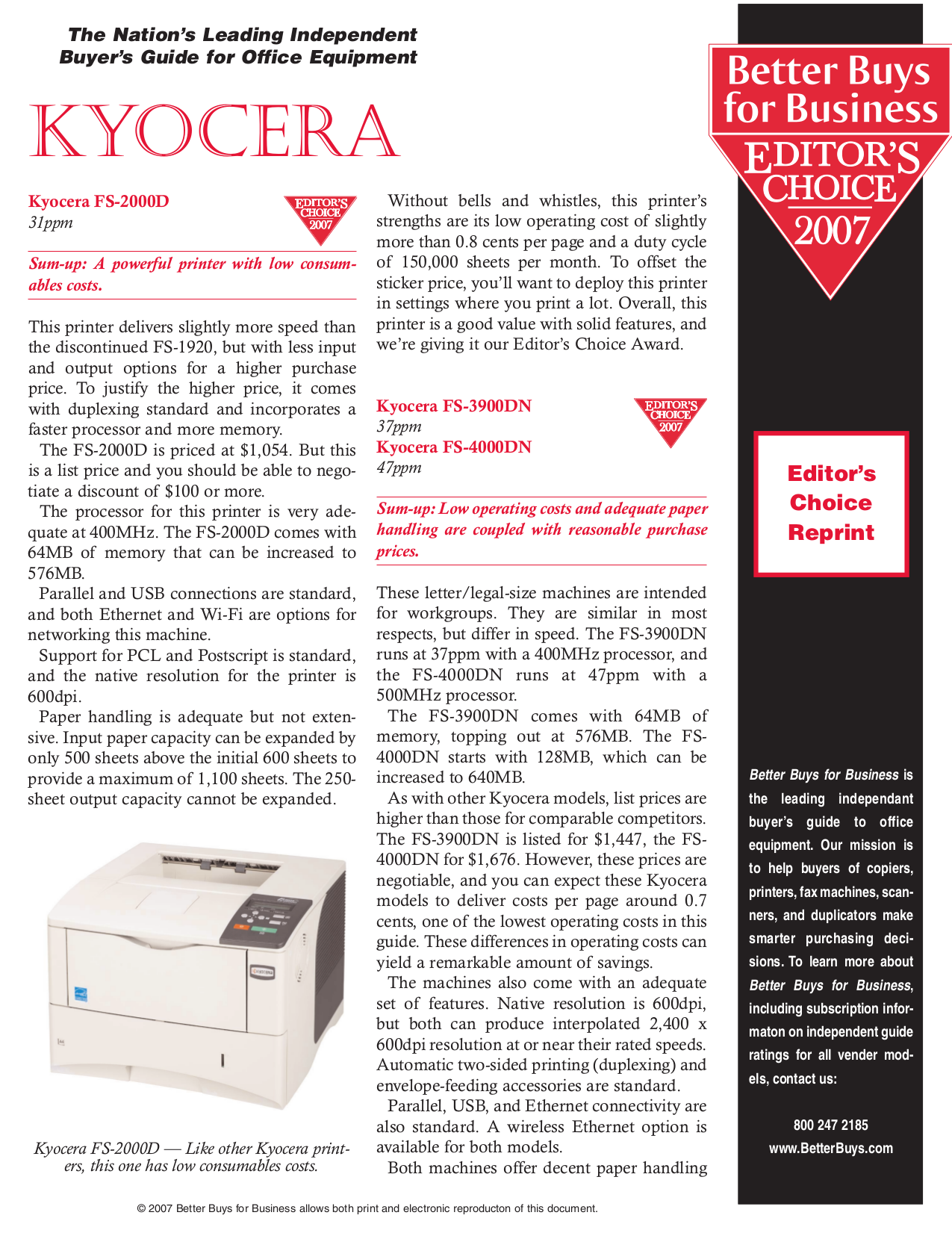 pdf for Kyocera Printer FS-9120DN manual