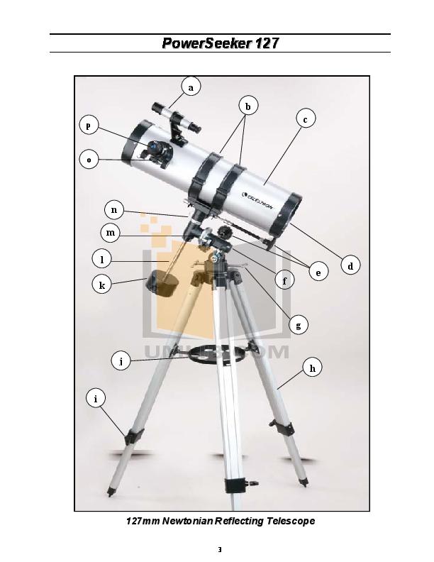 Celestron powerseeker 127eq telescope manual.