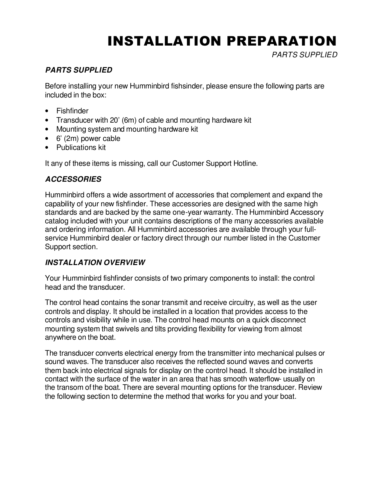 Humminbird GPS 581i pdf page preview