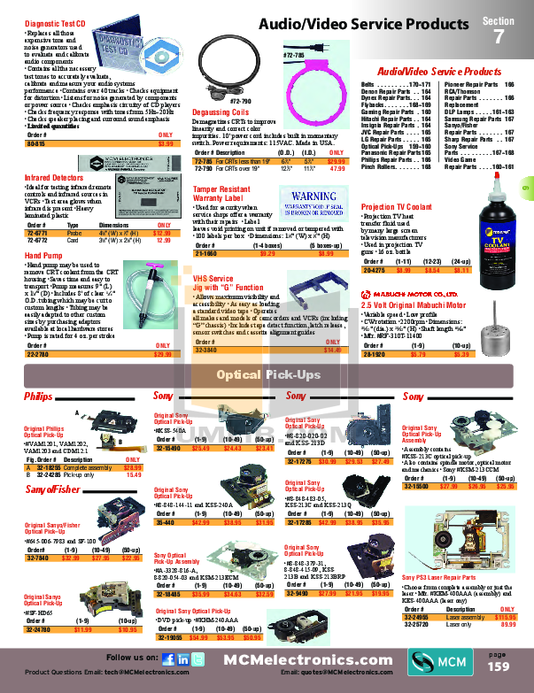 pdf for Hitachi TV 42V710 manual