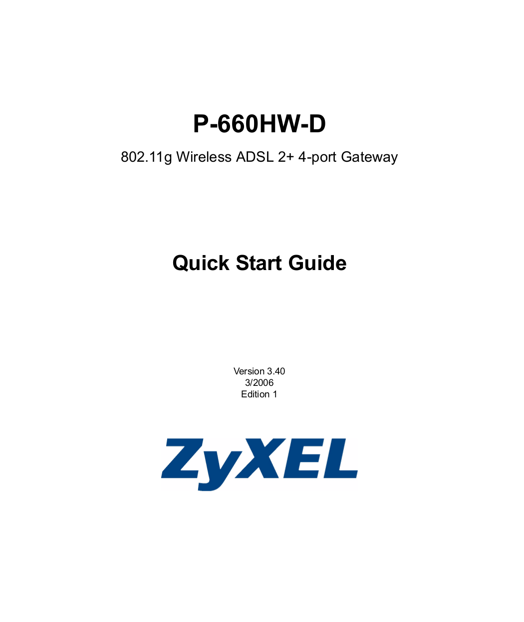 pdf for Zyxel Wireless Router P-660HW-D3 manual