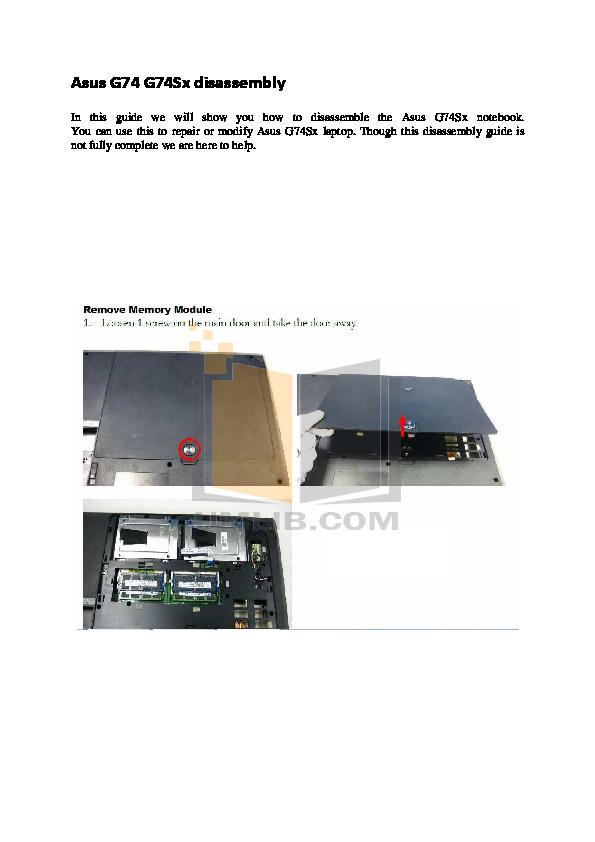 download free pdf for asus g74sx laptop manual rh umlib com asus g74sx service manual asus g74sx manual