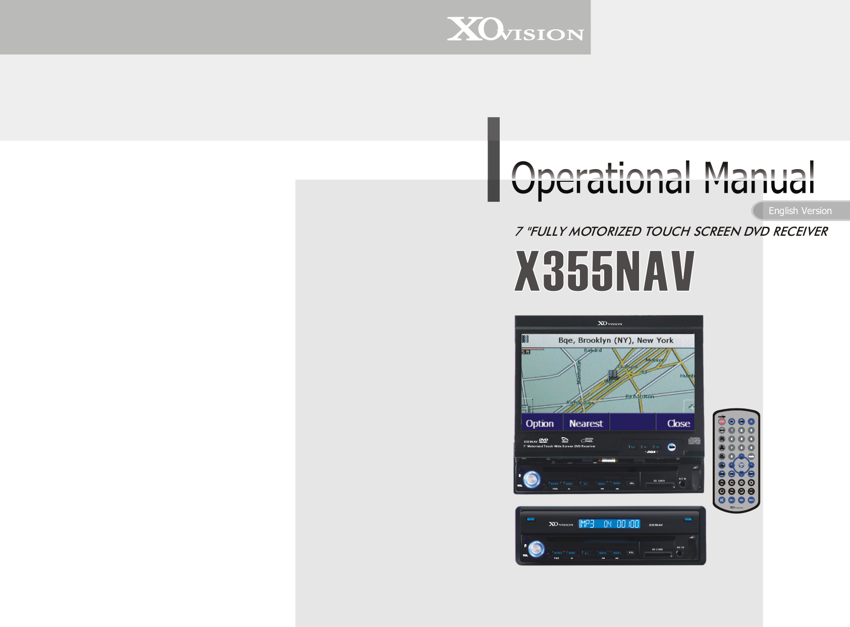 XOVision Car Video X355NAV pdf page preview
