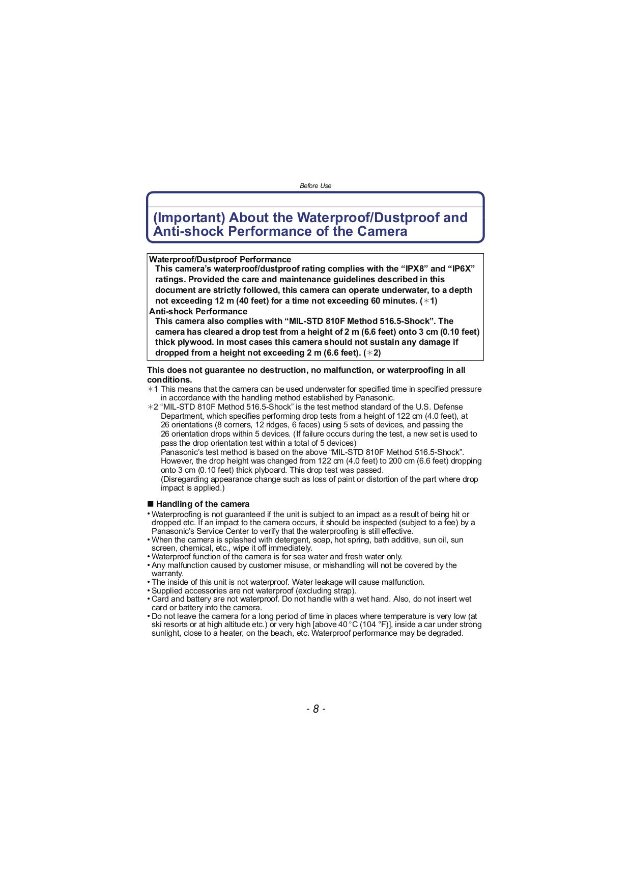 ... Panasonic Digital Camera Lumix DMC-TS3 pdf page preview