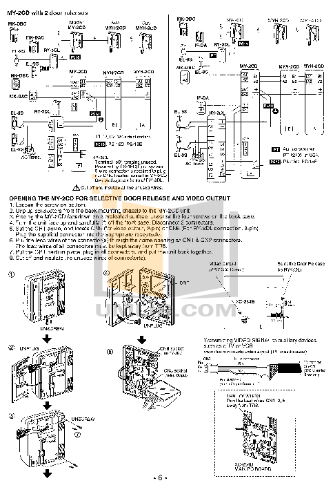 Aiphone Other MK-DAC Intercoms pdf page preview