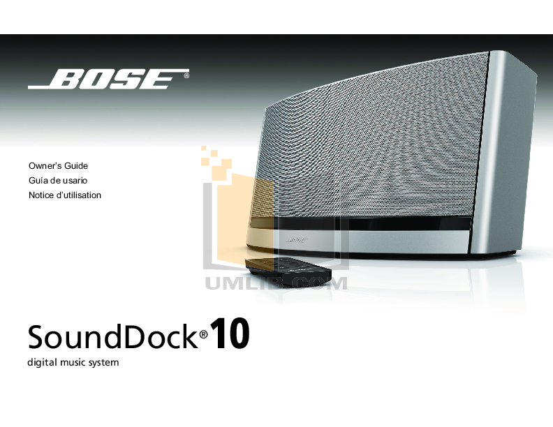 download free pdf for bose sounddock series ii ipod accessory other rh umlib com bose sounddock series ii user guide bose sounddock series ii user guide