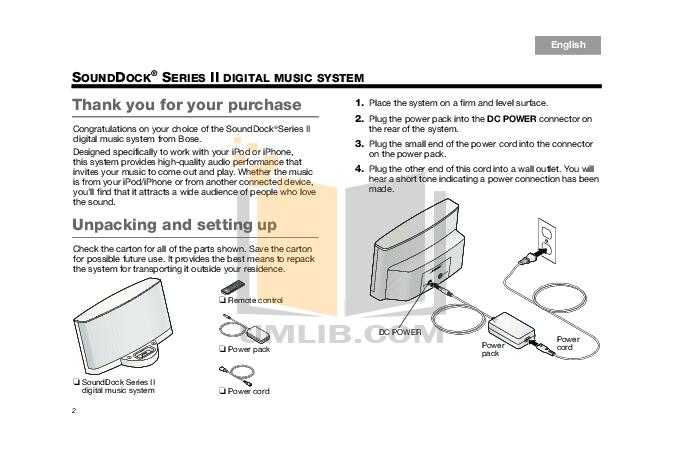 bose sounddock series 1 manual