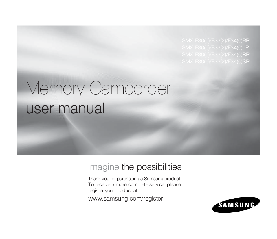 pdf for Samsung Camcorders SMX-F34 manual