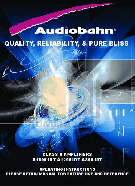 download free pdf for audiobahn a18001dt car amplifier manual rh umlib com Audiobahn 6 Channel Amp Audiobahn Amplifiers Rack