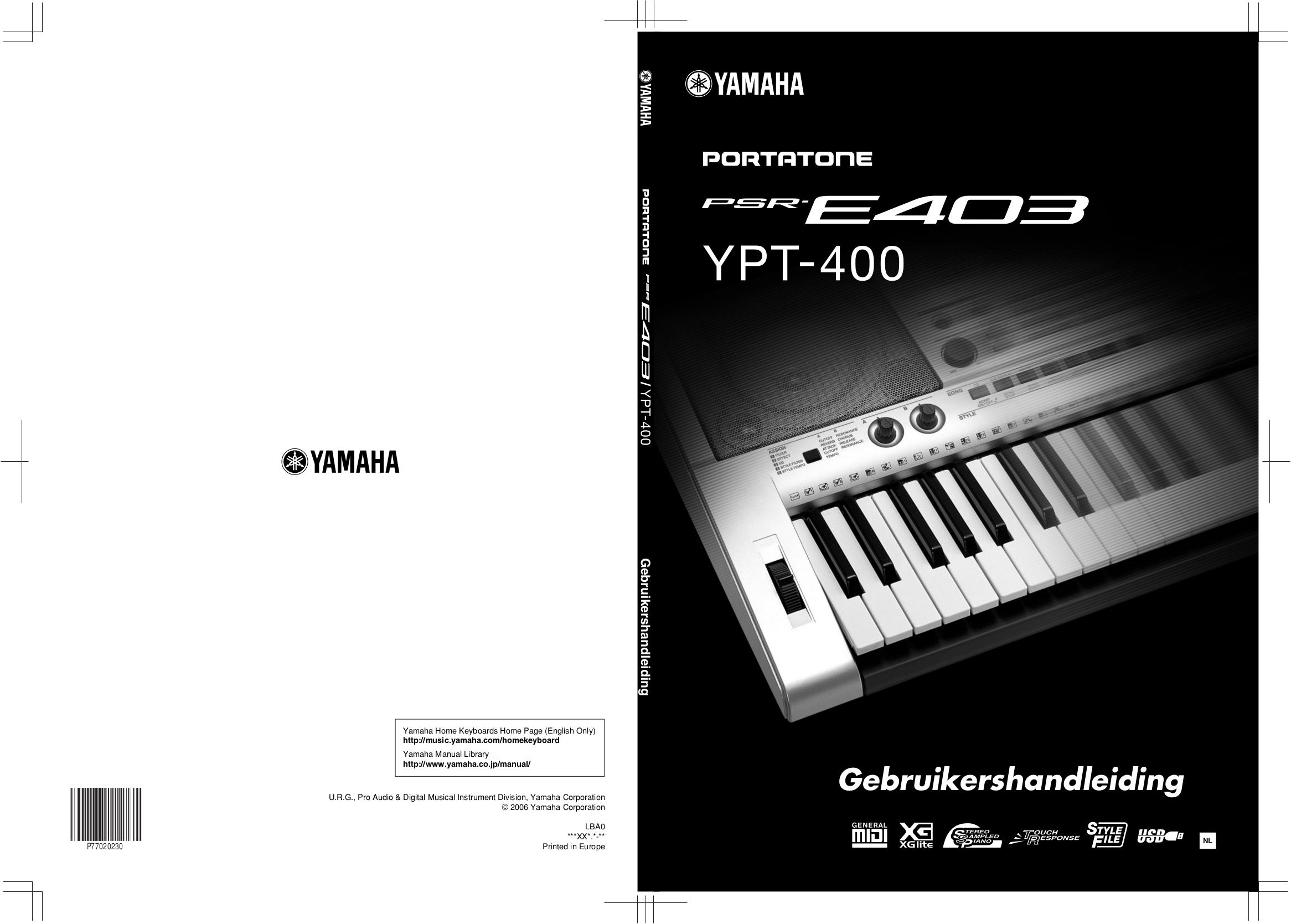 Yamaha Psr E403 инструкция
