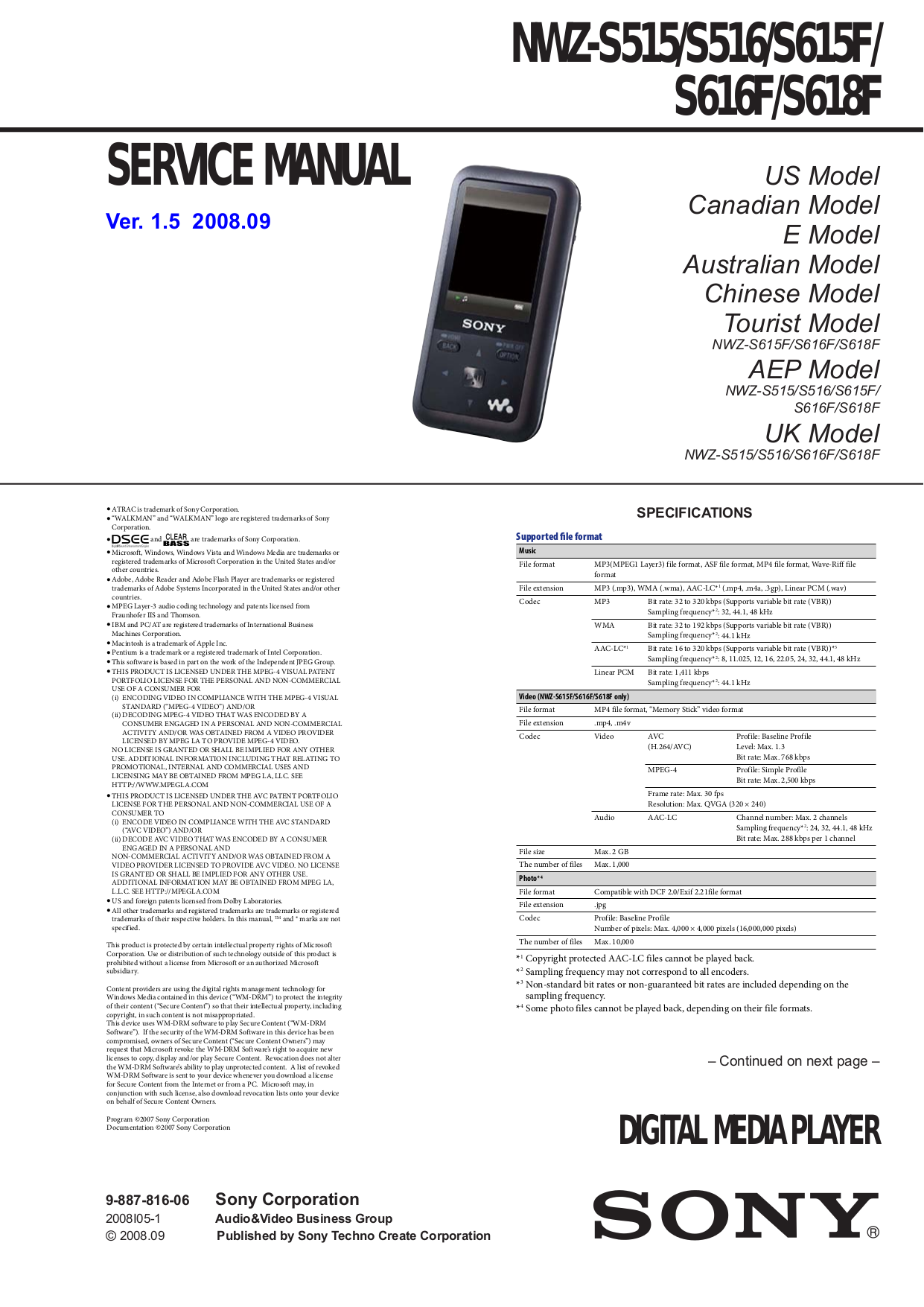 download free pdf for sony walkman nwz s618f mp3 player manual rh umlib com sony mp3 player manual sony mp3 manual pdf