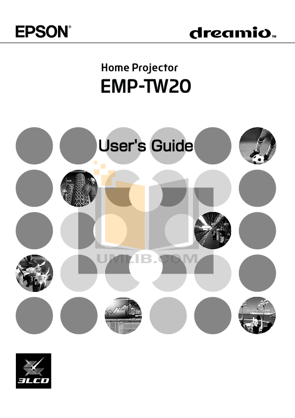pdf for Epson Projector EMP-TW 20 manual