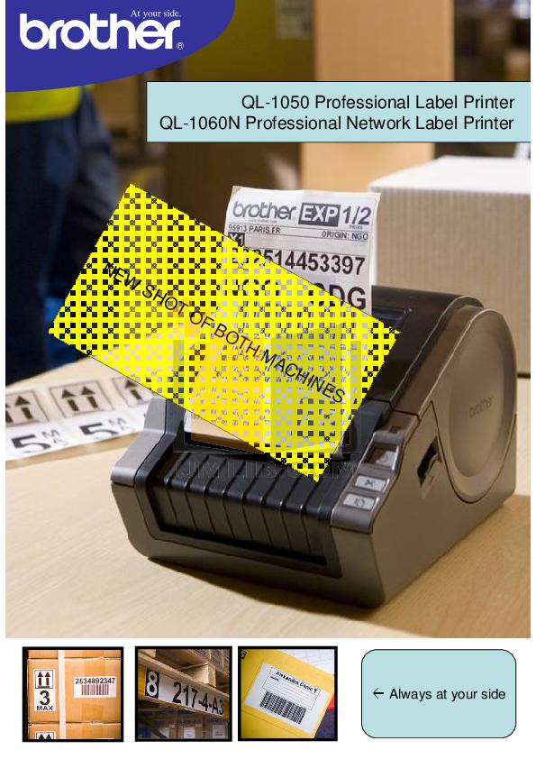 pdf for Brother Printer QL-1050 manual