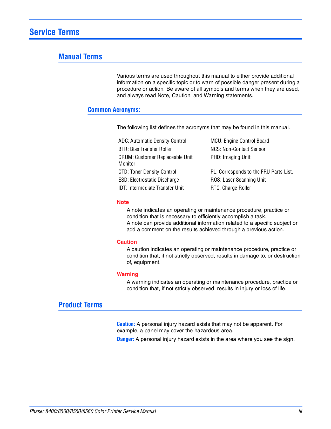 ... Xerox Printer Phaser 450 pdf page preview ...