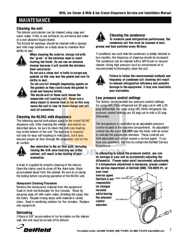 Delfield Refrigerator RFFSC-103 pdf page preview