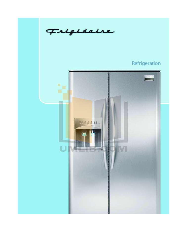 pdf for Frigidaire Refrigerator Gallery GLHS68EJ manual