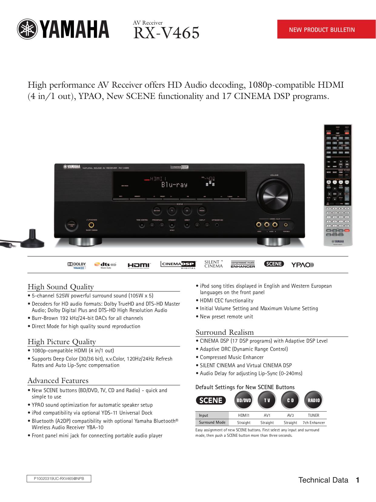 download free pdf for yamaha rx v465 receiver manual rh umlib com Yamaha RX 665 Manual Yamaha RX-V665 Optical